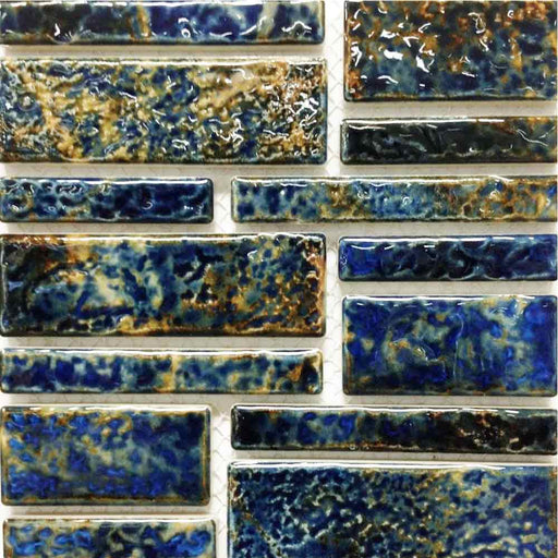 Pilos-404 Summer Blue Fujiwa Porcelain Pool Tile Random Made In JAPAN