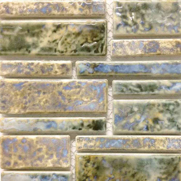Pilos-406 Satin Pearl Fujiwa Porcelain Pool Tile Random Made In JAPAN