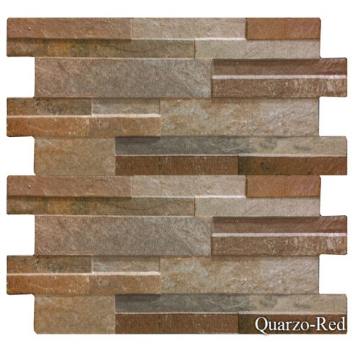 "Quarzo Red Fujiwa Porcelain Pool Tile 6 1/4"" x 16"""