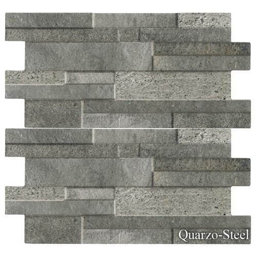 "Quarzo Steel Fujiwa Porcelain Pool Tile 6 1/4"" x 16"""