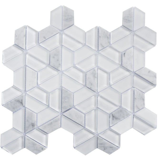 ROYAL090 Glass and Marble Mosaic - sold by piece