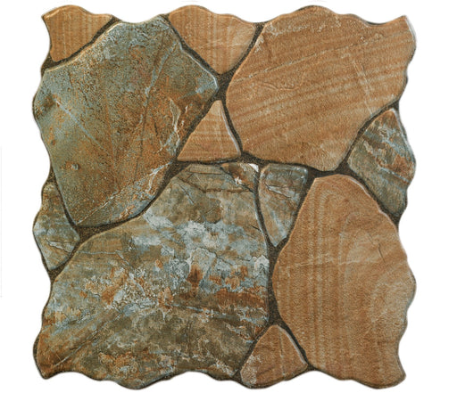 "Siena Canet Marron Porcelain Floor Tile 18"" x 18"""
