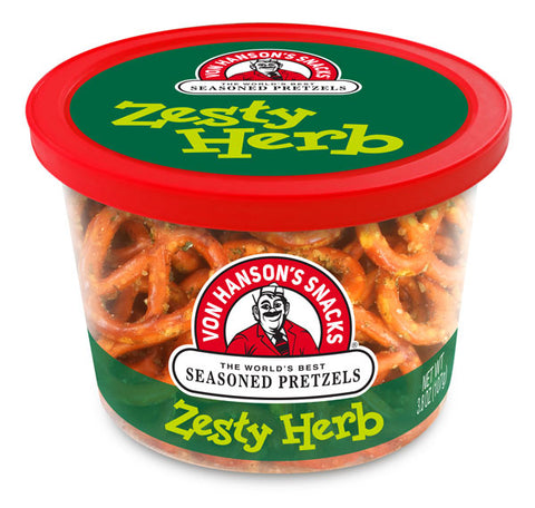 Zesty Herb Flavored Pretzels