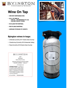 KEG 2017 Zinfandel, Moniz Vineyard, Santa Clara - Byington Winery