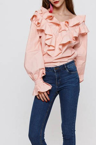 Ruffle Blouse Top