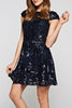 Sequins Ruffle Mini Dress - A CONCEPT