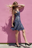 Navy Lace Fit and Flare Dress - A CONCEPT