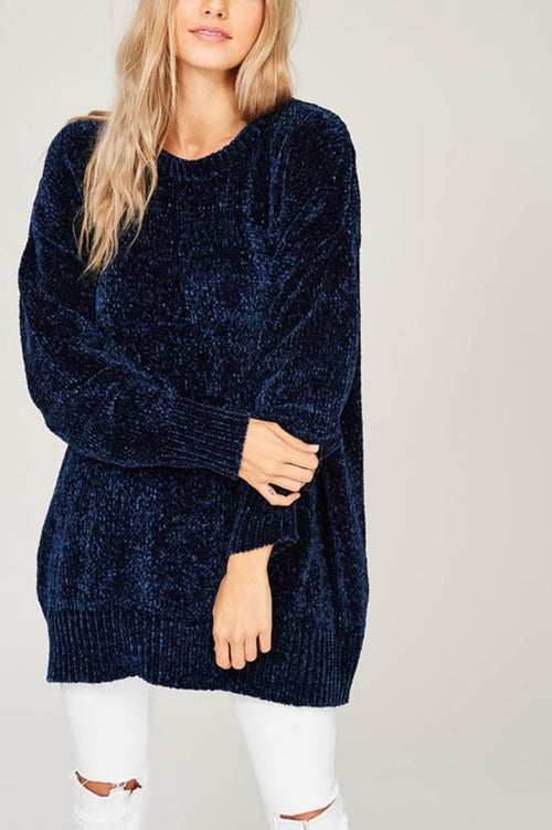 Velvet Knit Sweater