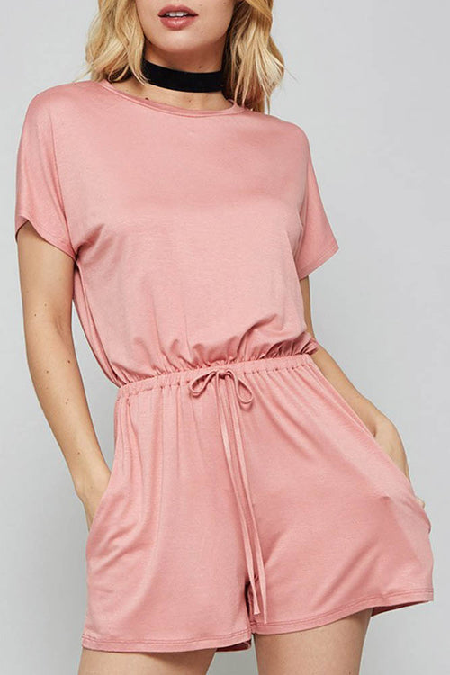 Dusty Pink Casual shorts Romper