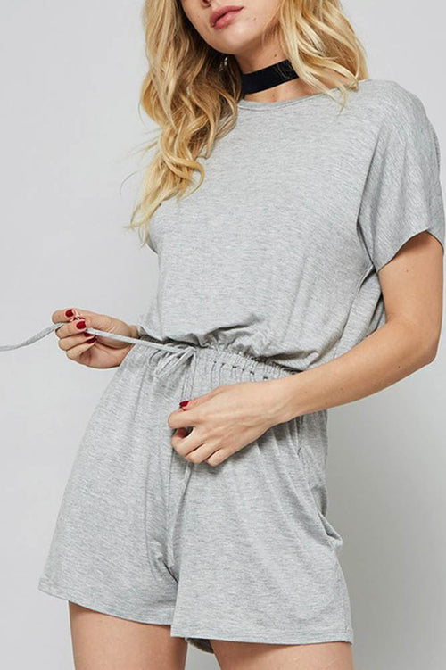 Grey Casual shorts Romper