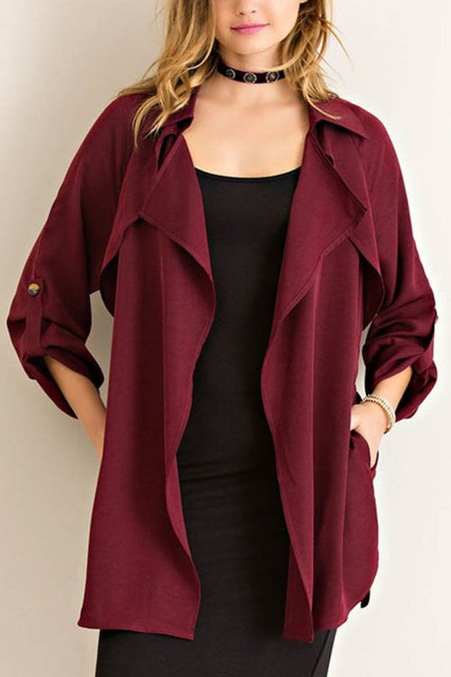 Red Wine Trench Coat
