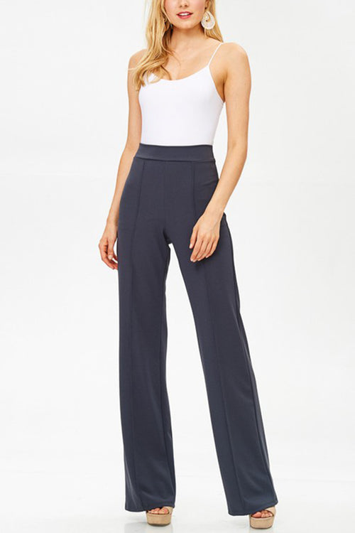 Retro Wide Leg Dress Pants