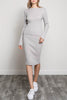 Grey Wide Band Rib Skirt - A CONCEPT