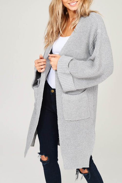 Knit Crochet Oversize Open Cardigan