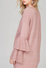 Pink Sleeve Ruffle Sweater Dress - A CONCEPT