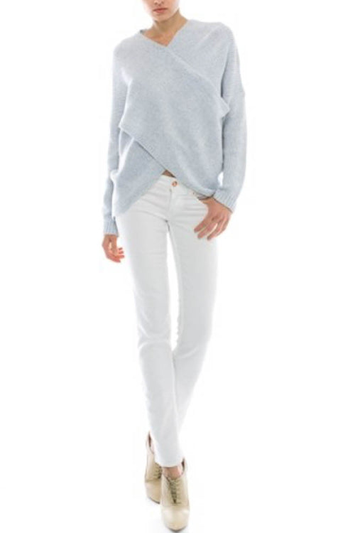 Powder Blue Hamptons Knit Sweater