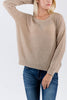 Taupe Slouchy Knit Cross Back Sweater - A CONCEPT