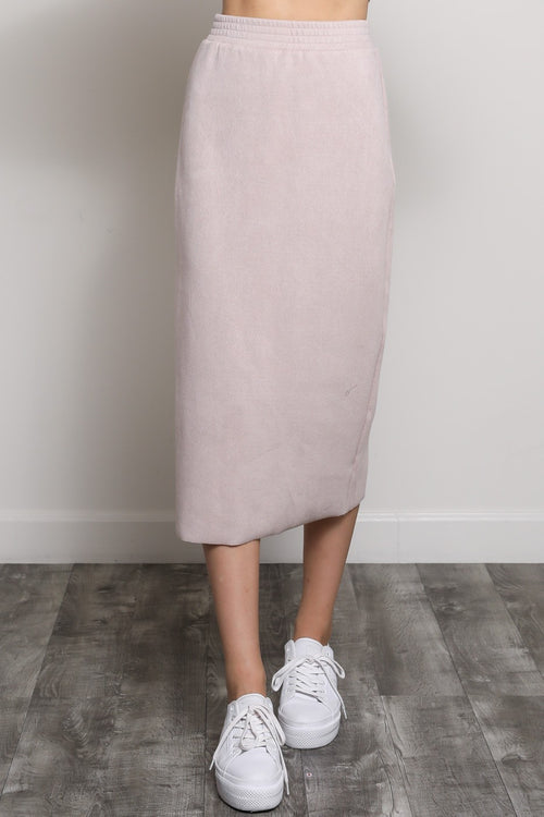 Pink Comfortable Band Midi Skirt
