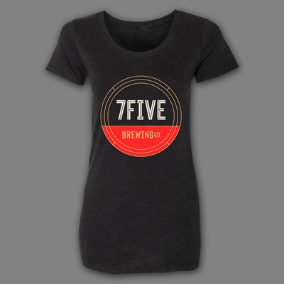 7FIVE BREWING Circle Logo Ladies Tee - Threads of eNVy