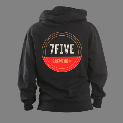 7FIVE BREWING CIRCLE LOGO ON BACK HOODIE - Threads of eNVy