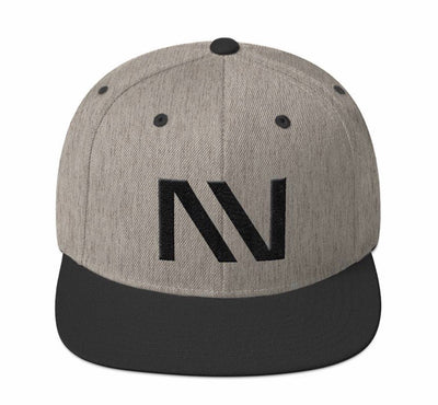 Heather Grey and Black NV Hat - Threads of eNVy