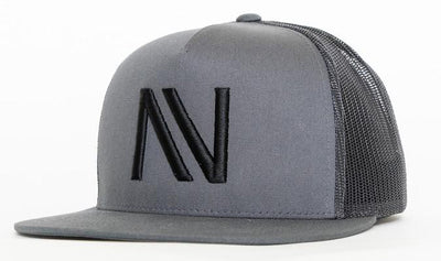 Charcoal With Black NV Mesh SnapBack Hat - Threads of eNVy