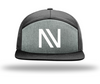 NV 7 panel Alt Heather Grey/Black hat - Threads of eNVy