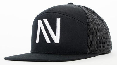 All Black NV 7 Panel SnapBack Hat - Threads of eNVy