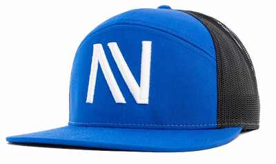 Blue/Black NV 7 Panel Snapback Hat - Threads of eNVy