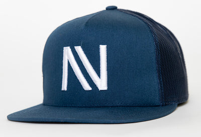 Blue With White NV Mesh SnapBack Hat - Threads of eNVy