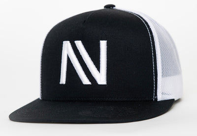 Black & White NV Mesh SnapBack Hat - Threads of eNVy