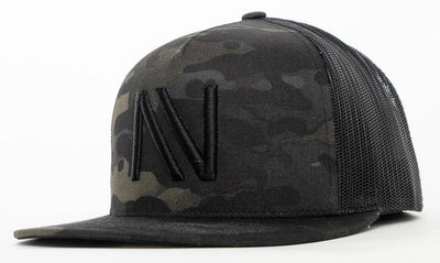 Black Camo With Black NV Mesh SnapBack Hat - Threads of eNVy