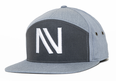 Grey Twill NV 7 Panel StrapBack Hat - Threads of eNVy