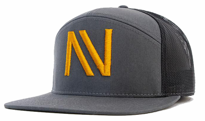 Grey/Black/Gold NV 7 Panel SnapBack Hat - Threads of eNVy