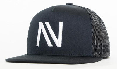Black With White NV Mesh SnapBack Hat - Threads of eNVy