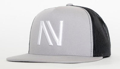 Heather Grey with White NV Mesh SnapBack Hat - Threads of eNVy