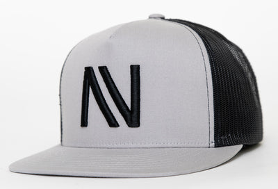 Heather Grey With Black NV Mesh SnapBack Hat - Threads of eNVy