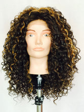 Curly brown with gold highlights, Lace-Front
