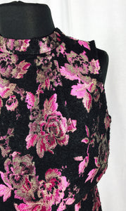 Embroidered rose, faux reverse vest