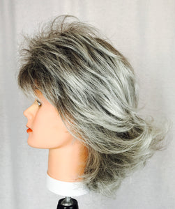 Grey with dark ombre roots