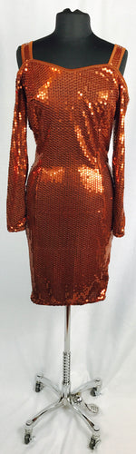 Full bronze sequin, open shoulder