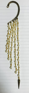 Over ear hook pearl tassels