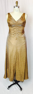 Antique gold, iridescent gown