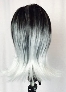 Ombré black and silver, flip