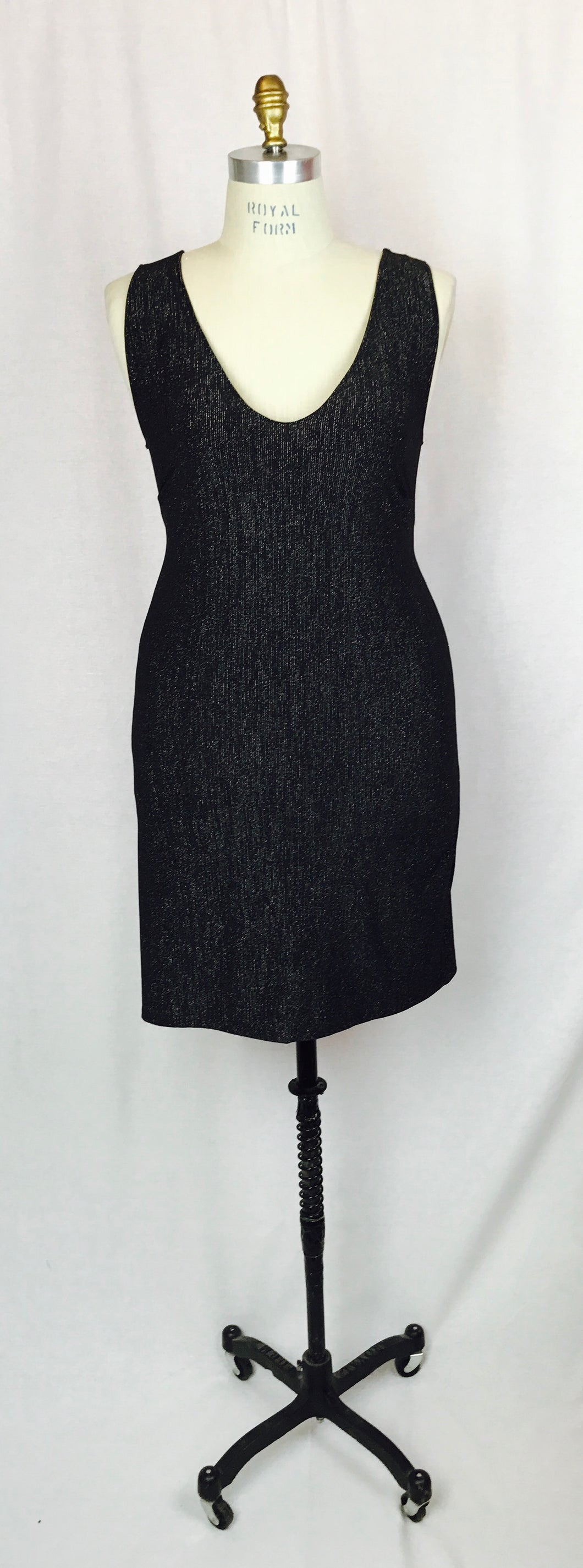 Black with Silver sparkle slip dress