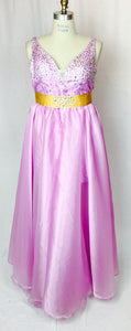 Jeweled gown, lace-up back, removable full length skirt