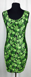 Cannabis bouquet bodycon dress