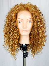 Curly blonde with light highlights, Lace Front