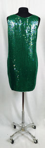 Aqua green shift sequin dress