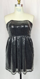 Strapless sequin cocktail dress